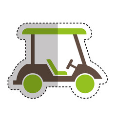 golf cart isolated icon vector image