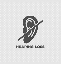 hearing loss logo icon design vector image vector image
