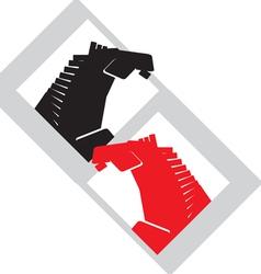 horses head1 vector image vector image