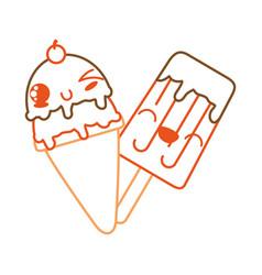 Isolated ice cream design vector