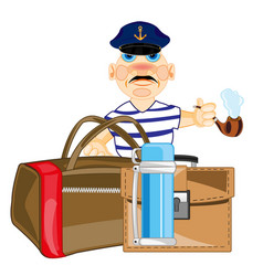 Man with bag vector