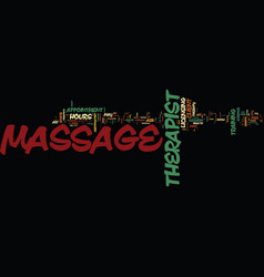 Massage bill of rights text background word cloud vector