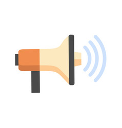megaphone icon loudspeaker sound concept vector image vector image