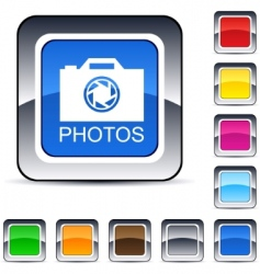 photos square button vector image vector image