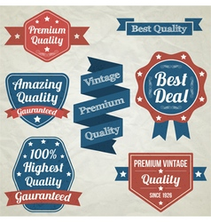 Premium Quality badges Collection vector image