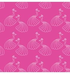 Seamless pattern of beautiful magic peacocks vector image