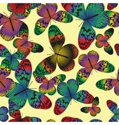 Seamless pattern with vintage colorful butterfly vector image