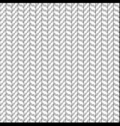 simple pattern with leaves black and white vector image vector image