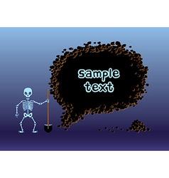 Skeleton hole frame vector image vector image