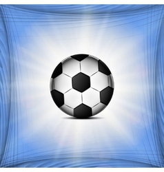 Soccer ball web icon on a flat geometric abstract vector image