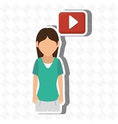Student avatar design vector
