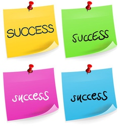 Success Sticky Note vector image vector image
