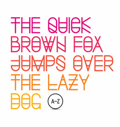 The quick brown fox jumps over the lazy dog - vector