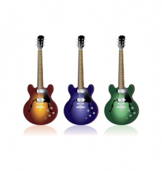three guitars vector image vector image