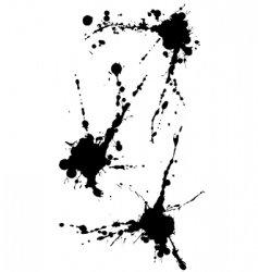 three isolated blots vector image vector image