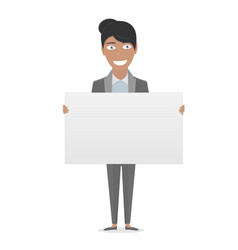 White board in his hands for you text business vector