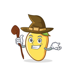 Witch mango character cartoon mascot vector