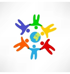 world friendship icon vector image