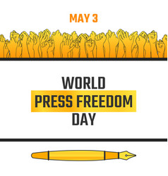 World press freedom day may 3 vector
