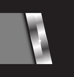 abstract metal silver on gray black vector image