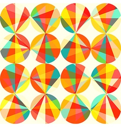 Geometric pattern of circles and triangles colored vector