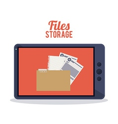 Files storage design vector