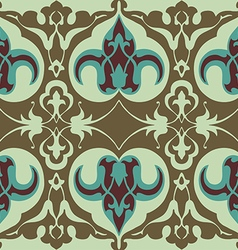 Vintage floral pattern seamless background vector