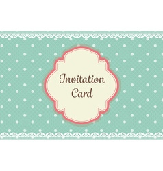 Cute teal polka dot with lace elegant background vector