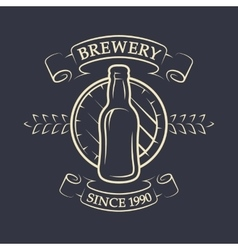 Craft brewery vintage emblem vector