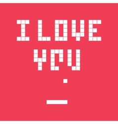 Valentines day card video game i love you vector