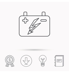 Accumulator icon electrical battery sign vector