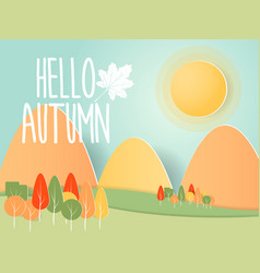 abstract autumn nature background paper art vector image vector image