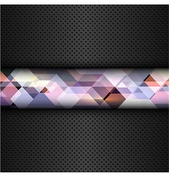 Abstract metal background with a geometric design vector