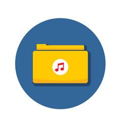 Audio music folder archive icon graphic vector