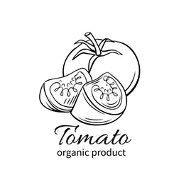 Badge tomato vector