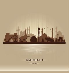 baghdad iraq city skyline silhouette vector image