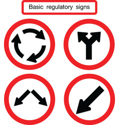 Basic traffic sign circle vector
