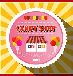 Candy Shop Retro Label vector image vector image
