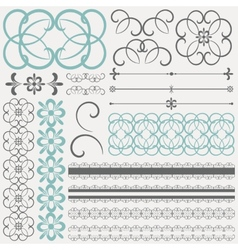 Collection of ornamental design elements and vector