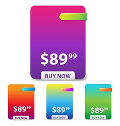 Colorful Price Table vector image