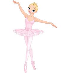 dancing ballerina vector image vector image