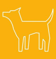 Dog icon vector