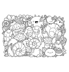 doodle vector image
