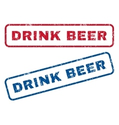 Drink beer rubber stamps vector