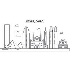 Egypt cairo architecture line skyline vector