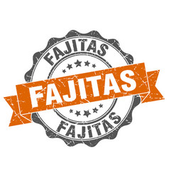 fajitas stamp sign seal vector image vector image