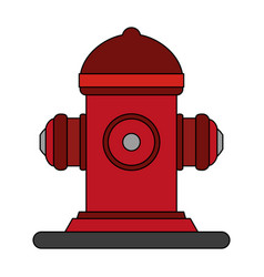 fire hydrant use vector image vector image