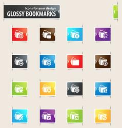 Folders bookmark icons vector
