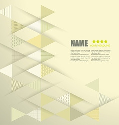 geometric abstract background with triangle line vector image vector image