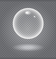 Glowing bubble vector